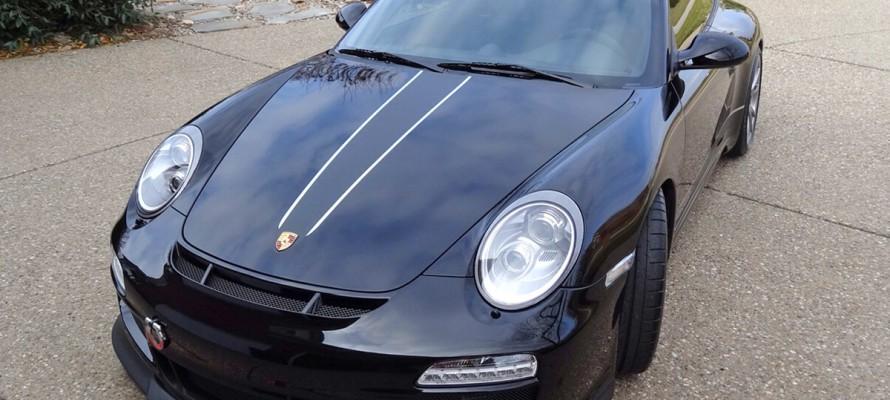 Matte black on Black Porsche GT3