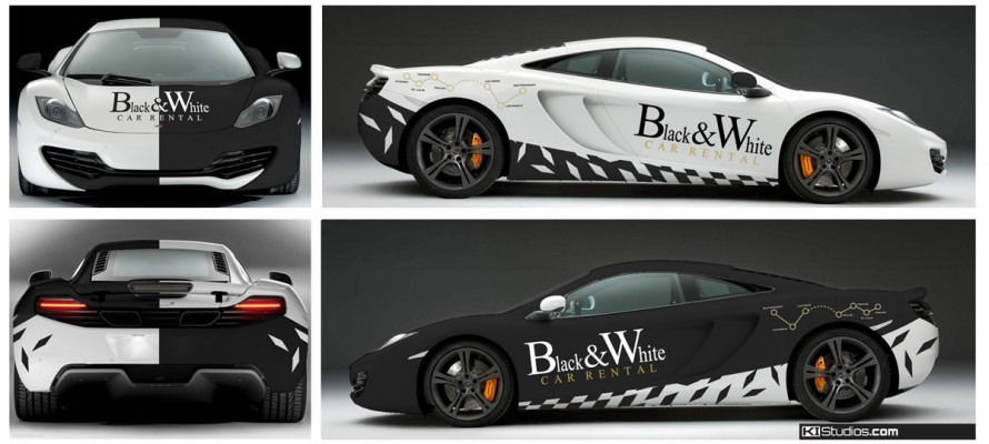 Mclaren MP4-12C Wrap Design