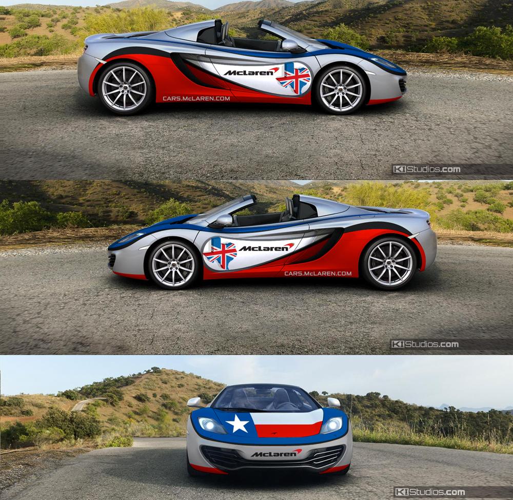 Lone-Star McLaren Wrap