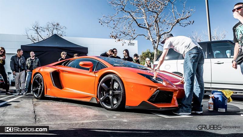 Lamborghini Aventador Stripe Install