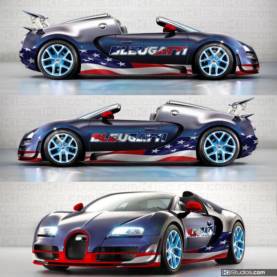 Bugatti Wrap San Diego