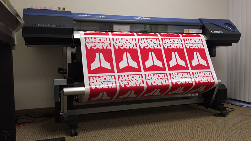 Targa Trophy rally decals printing at KI Studios