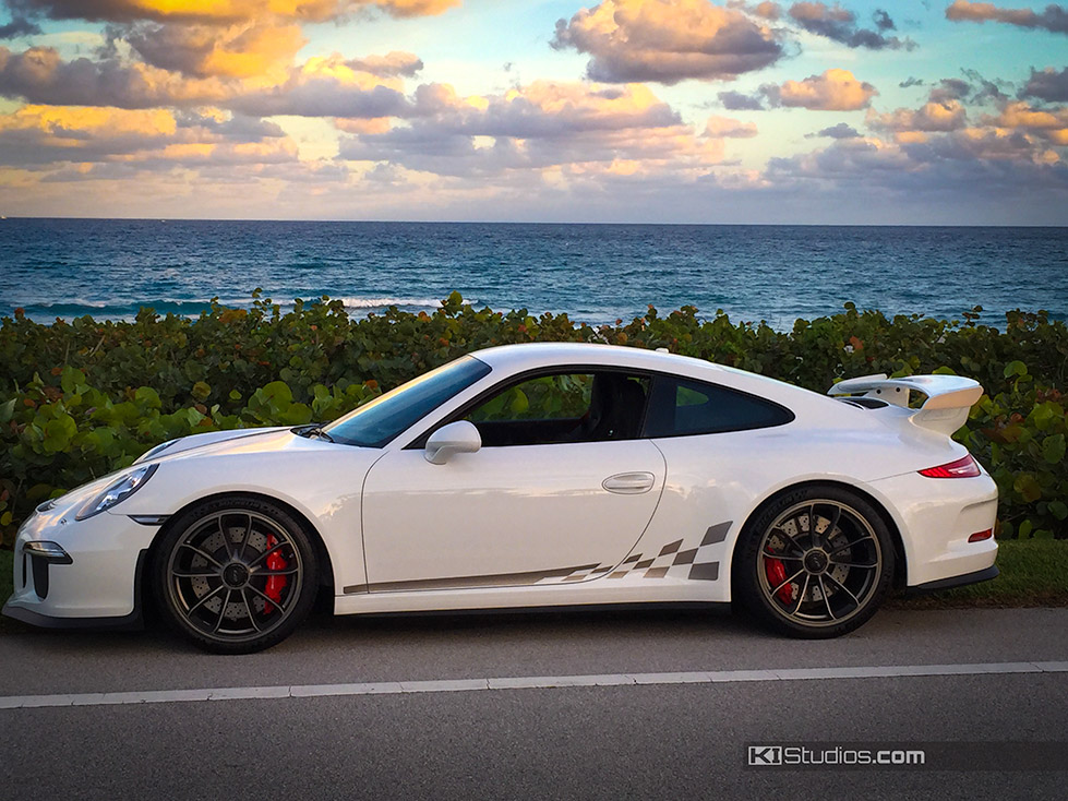 Porsche 991 Gt3 Checker Side Stripes In Your Choice Of Color
