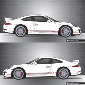 Porsche 991 GT3 Stripe Kit 005