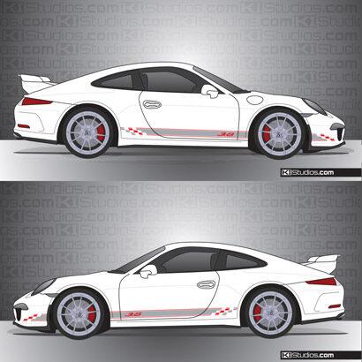 Porsche 991 GT3 KI Studios Stripe Kit 005
