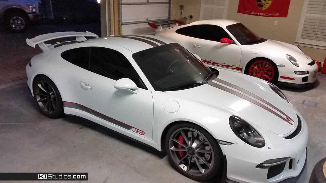Matte Black Vinyl Car Wrap Cost You are here: Home / Products / Porsche 991 GT3 RS Stripe Kit 008