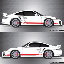 Porsche 997 GT2 Stripe Kit 004
