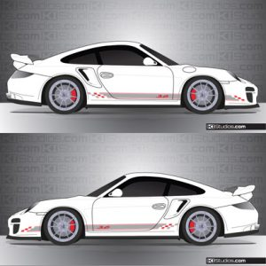 Porsche 997 GT2 Stripe Kit 005