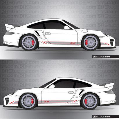 Porsche 997 GT2 Stripe Kit 005