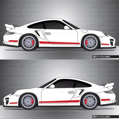 Porsche 997 GT2 Stripe Kit 006