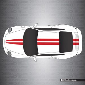 Porsche 997 GT2 Stripe Kit 007