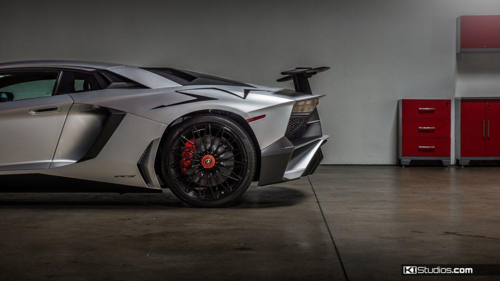 Lamborghini Aventador SV - KI Studios San Diego Car Wraps Installation Facilities