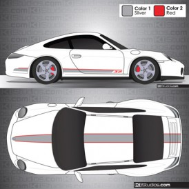 Porsche 997 Carrera Stripe Kit 001