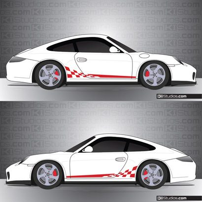 Porsche 997 Carrera Stripe Kit 002
