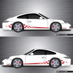 Porsche 997 Carrera Stripe Kit 003