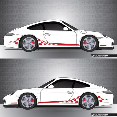 Porsche 997 Carrera Stripe Kit 003