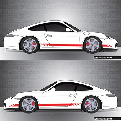 Porsche 997 Carrera Stripe Kit 004
