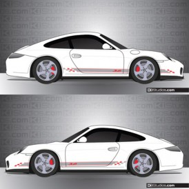 Porsche 997 Carrera Stripe Kit 005
