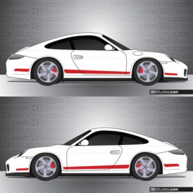 Porsche 997 Carrera Stripe Kit 006