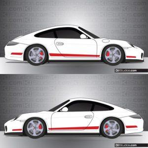 Porsche 997 Carrera Stripe Kit 006