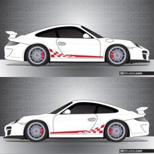 Porsche 997 GT3 Stripe Kit 002