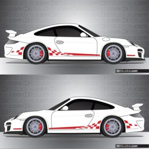 Porsche 997 GT3 Stripe Kit 003