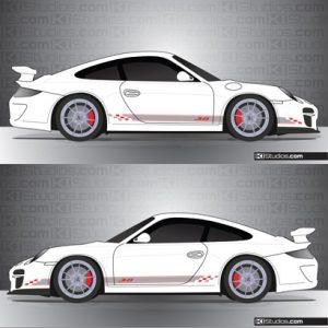 Porsche 997 GT3 Stripe Kit 005