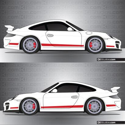 Porsche 997 GT3 Stripe Kit 006