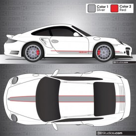 Porsche 997 Turbo Stripe Kit 001