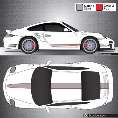 Porsche 997 Turbo Stripe Kit 001