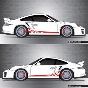Porsche 997 Turbo Stripe Kit 002