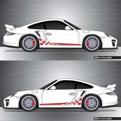 Porsche 997 Turbo Stripe Kit 002