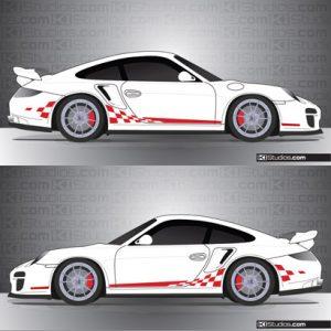 Porsche 997 Turbo Stripe Kit 003