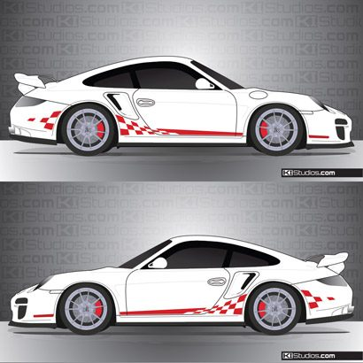 Porsche 997 Turbo Stripe Kit 003