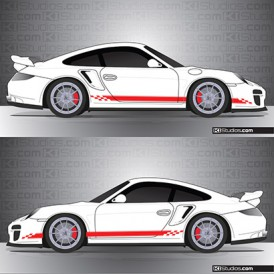 Porsche 997 Turbo Stripe Kit 004