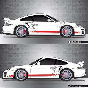 Porsche 997 Turbo Stripe Kit 004