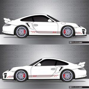 Porsche 997 Turbo Stripe Kit 005