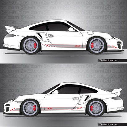 Porsche 997 Turbo Stripe Kit 005