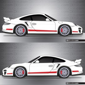 Porsche 997 Turbo Stripe Kit 006