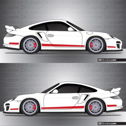 Porsche 997 Turbo Stripe Kit 006