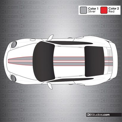 Porsche 997 Turbo Stripe Kit 008