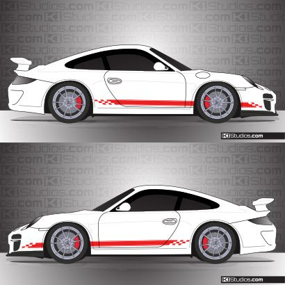Porsche 997 GT3 Stripe Kit 004