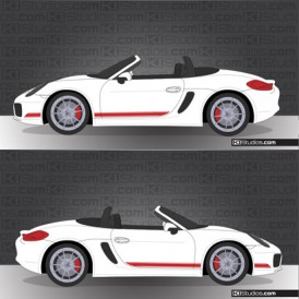 Porsche 981 Boxster Stripe Kit 001