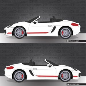 Porsche 981 Boxster Stripe Kit 001