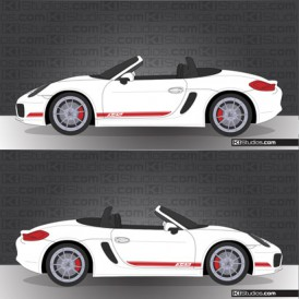 Porsche 981 Boxster Stripe Kit 002