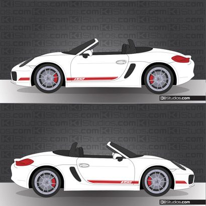Porsche 981 Boxster Stripe Kit 002