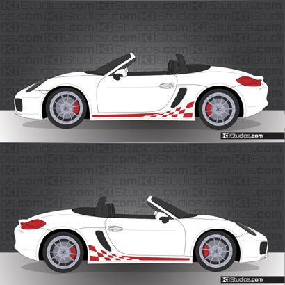 Porsche 981 Boxster Stripe Kit 003