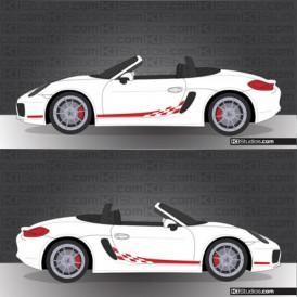 Porsche 981 Boxster Stripe Kit 008