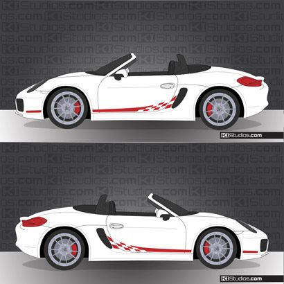 Porsche 981 Boxster Stripe Kit 008