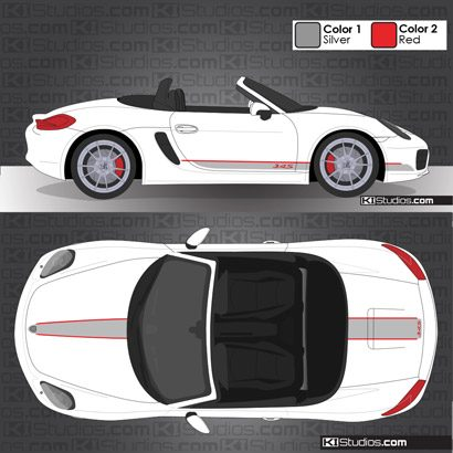 Porsche 981 Boxster Stripe Kit 005